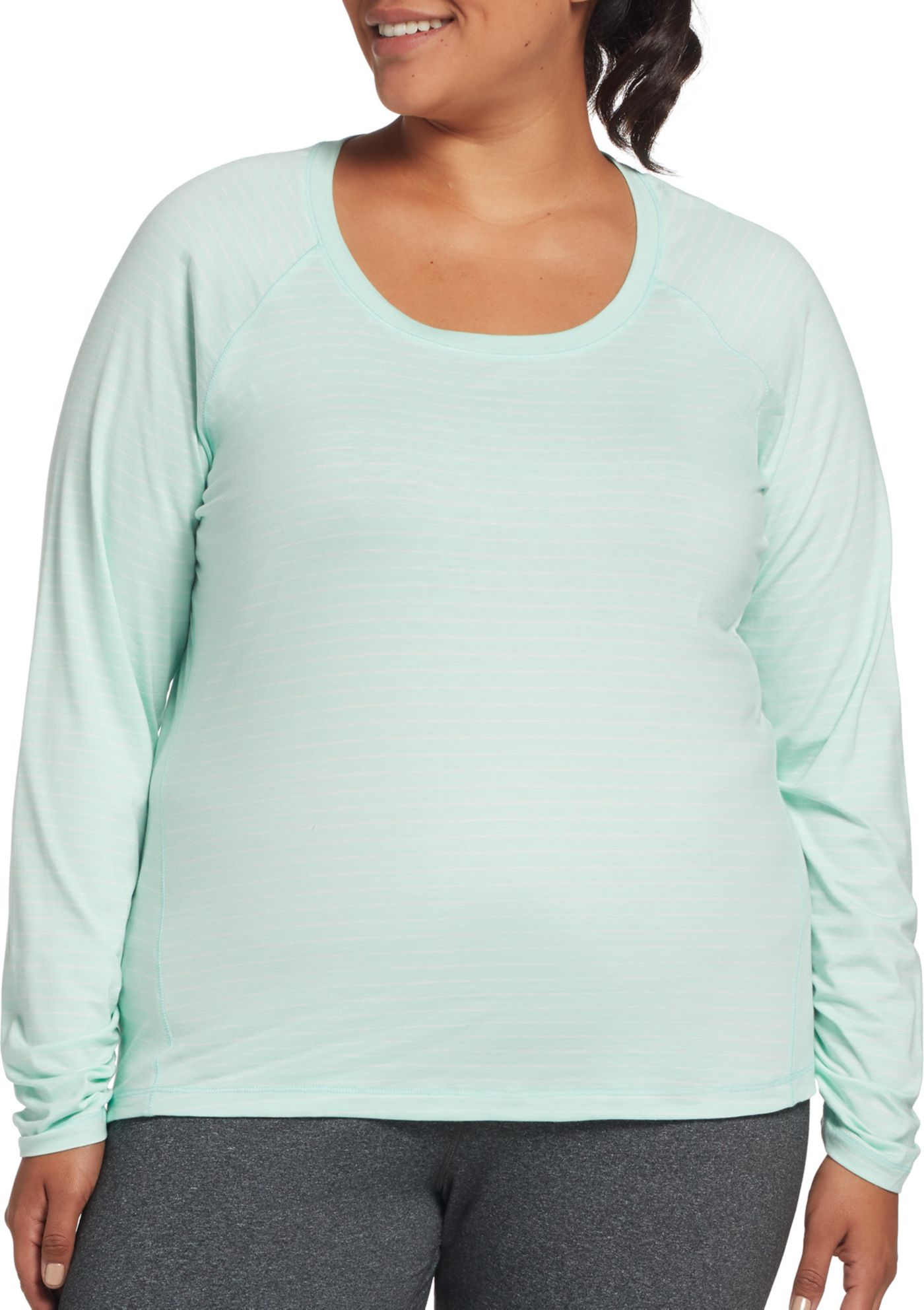 CALIA by Carrie Underwood Women's Plus Size Everyday Long Sleeve Shirt