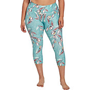 CALIA by Carrie Underwood Women's Plus Size Essential Tight Fit Printed Capris