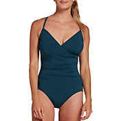 CALIA by Carrie Underwood Women's Ruched One Piece Swimsuit
