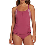 CALIA by Carrie Underwood Women's Ruched Tankini Top