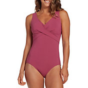 CALIA by Carrie Underwood Women's Twist Front One Piece Swimsuit