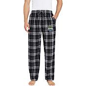 Concepts Sport Men's Seattle Sounders Hillstone Black Flannel Pants