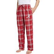 Concepts Sport Men's Alabama Crimson Tide Crimson/White Hillstone Flannel Sleep Pants