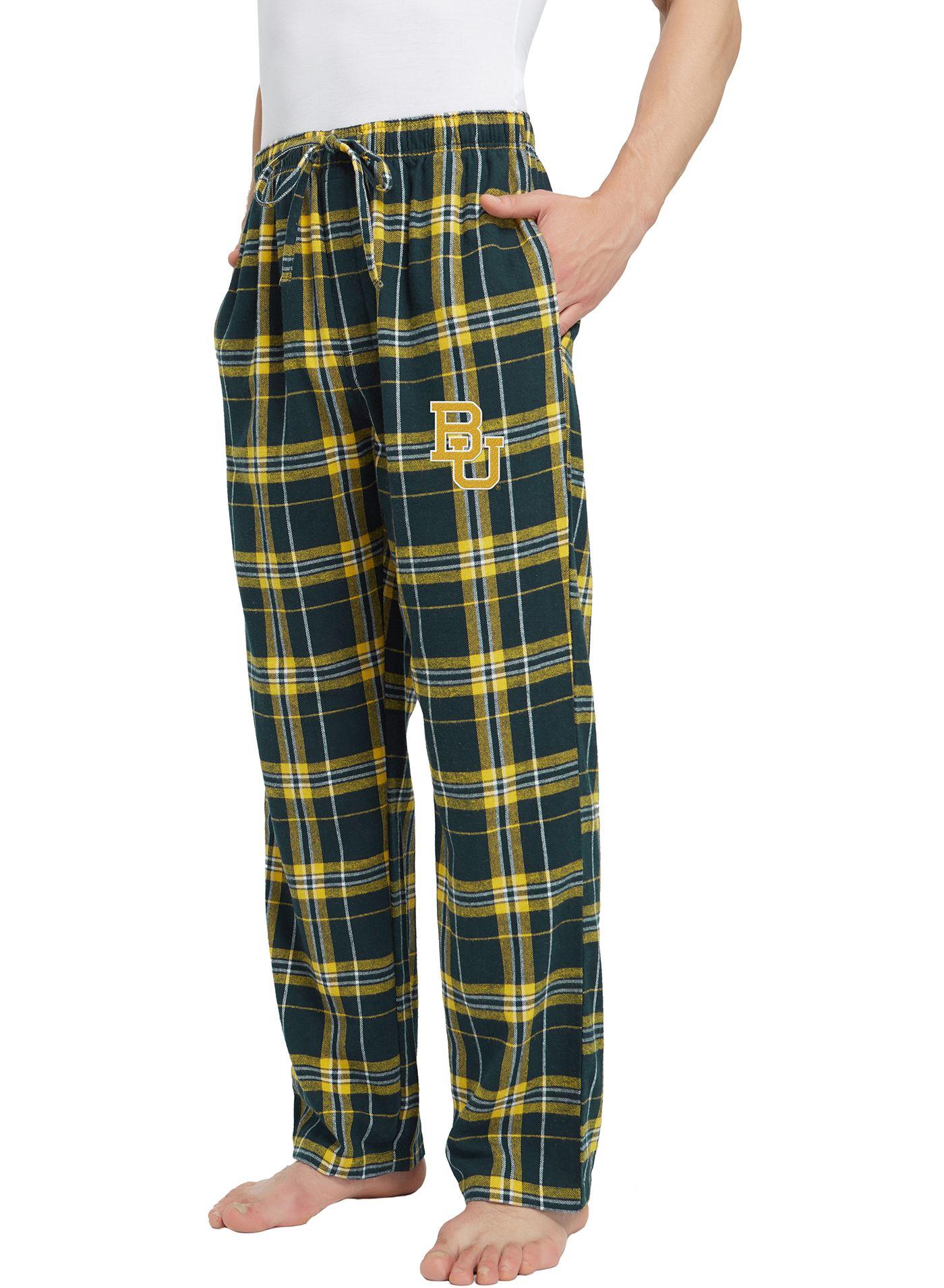 Concepts Sport Men's Baylor Bears Green/Gold Hillstone Flannel Sleep Pants