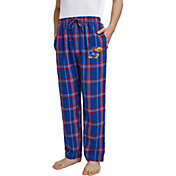 Concepts Sport Men's Kansas Jayhawks Blue/Crimson Hillstone Flannel Sleep Pants