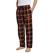 Concepts Sport Men's Oklahoma State Cowboys Black/Orange Hillstone Flannel Sleep Pants