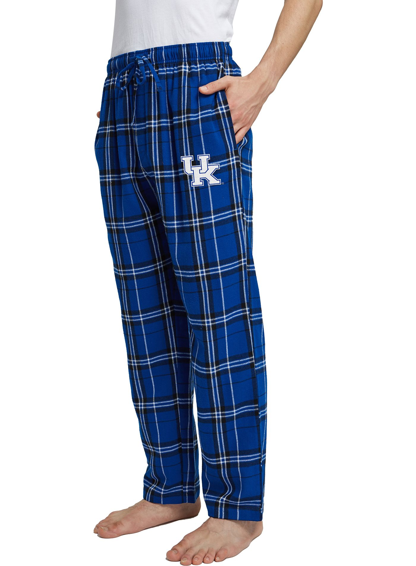 Concepts Sport Men's Kentucky Wildcats Blue/White Hillstone Flannel Sleep Pants
