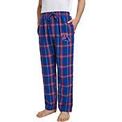 Concepts Sport Men's Louisiana Tech Bulldogs Blue/Red Hillstone Flannel Sleep Pants