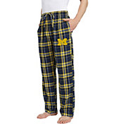 Concepts Sport Men's Michigan Wolverines Blue/Maize Hillstone Flannel Sleep Pants
