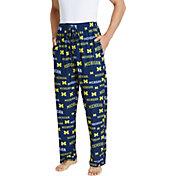 Concepts Sport Men's Michigan Wolverines Blue Fairway Sleep Pants