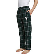 Concepts Sport Men's Michigan State Spartans Green/White Hillstone Flannel Sleep Pants