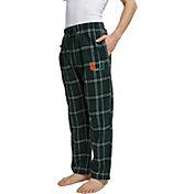 Concepts Sport Men's Miami Hurricanes Green/White Hillstone Flannel Sleep Pants