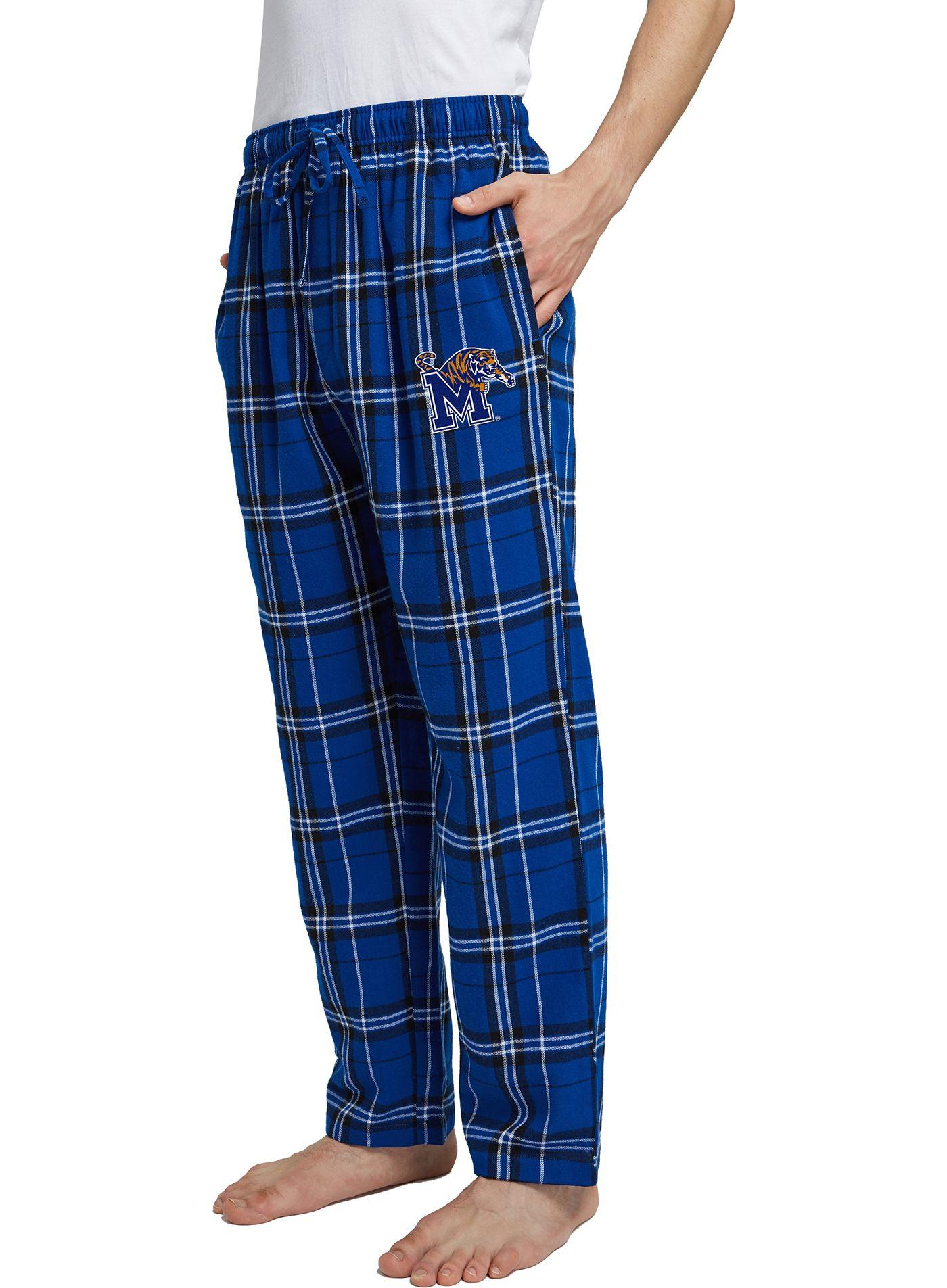 Concepts Sport Men's Memphis Tigers Blue/Grey Hillstone Flannel Sleep Pants