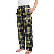 Concepts Sport Men's Marquette Golden Eagles Blue/Gold Hillstone Flannel Sleep Pants