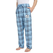 Concepts Sport Men's North Carolina Tar Heels Carolina Blue/White Hillstone Flannel Sleep Pants