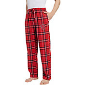 Concepts Sport Men's NC State Wolfpack Red/White Hillstone Flannel Sleep Pants