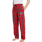 Concepts Sport Men's New Mexico Lobos Cherry/White Hillstone Flannel Sleep Pants
