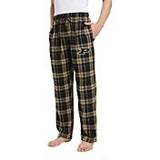 Concepts Sport Men's Purdue Boilermakers Black/Old Gold Hillstone Flannel Sleep Pants