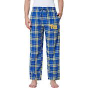 Concepts Sport Men's Pitt Panthers Blue/Gold Hillstone Flannel Sleep Pants
