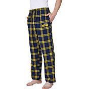Concepts Sport Men's Toledo Rockets Midnight Blue/Gold Hillstone Flannel Sleep Pants