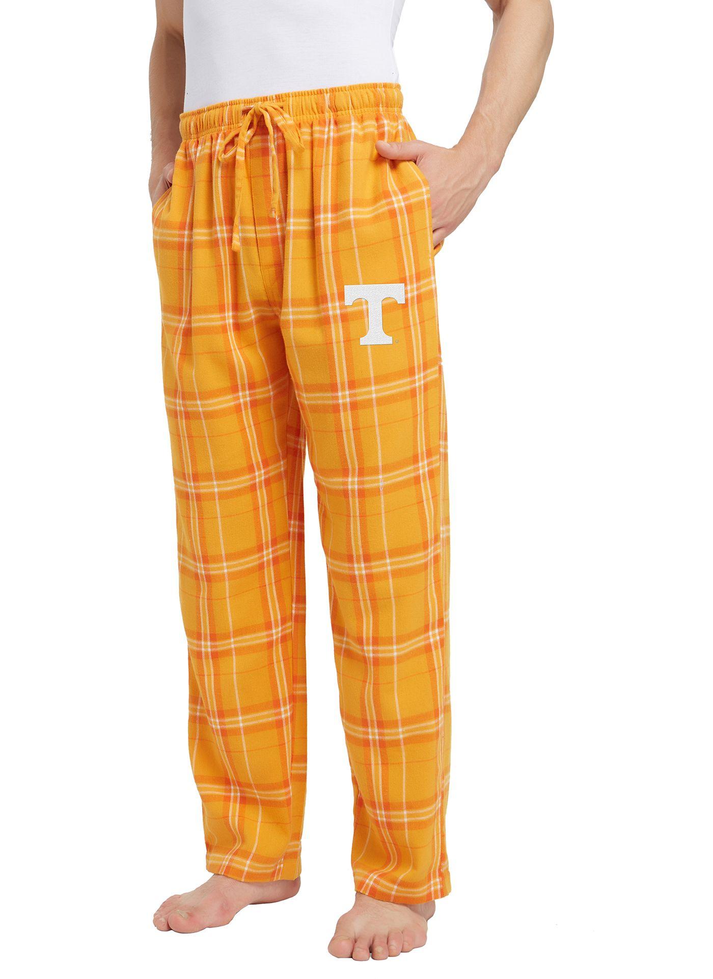 Concepts Sport Men's Tennessee Volunteers Tennessee Orange/White Hillstone Flannel Sleep Pants
