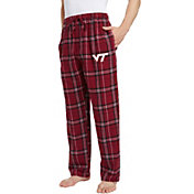 Concepts Sport Men's Virginia Tech Hokies Maroon/White Hillstone Flannel Sleep Pants