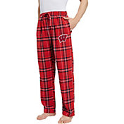 Concepts Sport Men's Wisconsin Badgers Red/White Hillstone Flannel Sleep Pants