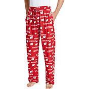 Concepts Sport Men's Wisconsin Badgers Red Fairway Sleep Pants