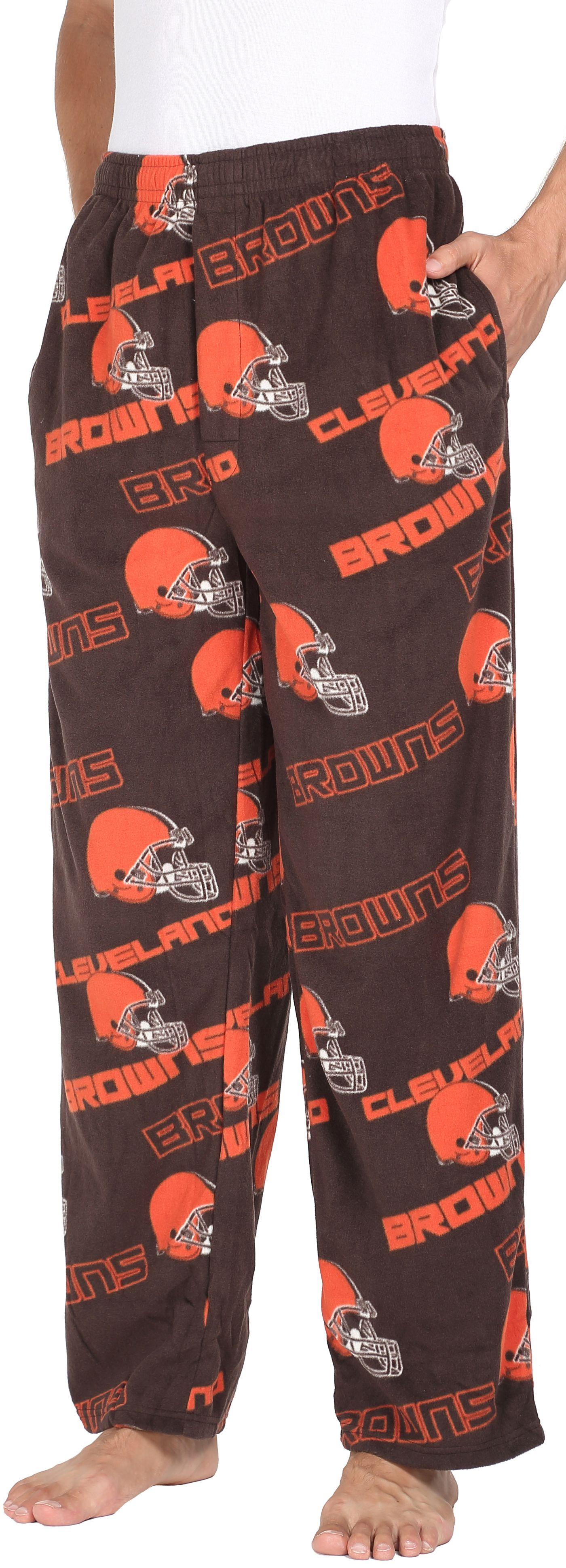 Concepts Sport Men's Cleveland Browns Keystone Brown Fleece Pants
