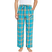 Concepts Sport Men's Miami Dolphins Hillstone Flannel Pants
