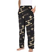 Concepts Sport Men's New Orleans Saints Keystone Black Fleece Pants