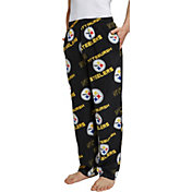 Concepts Sport Men's Pittsburgh Steelers Keystone Black Fleece Pants