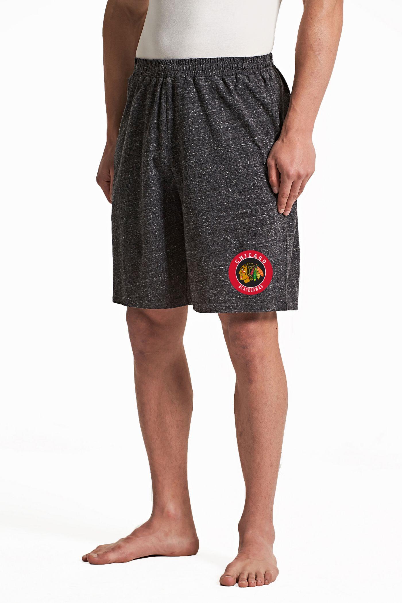 Concepts Sport Men's Chicago Blackhawks Pitch Grey Shorts