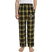 Concepts Sport Men's Boston Bruins Hillstone Black Flannel Pants
