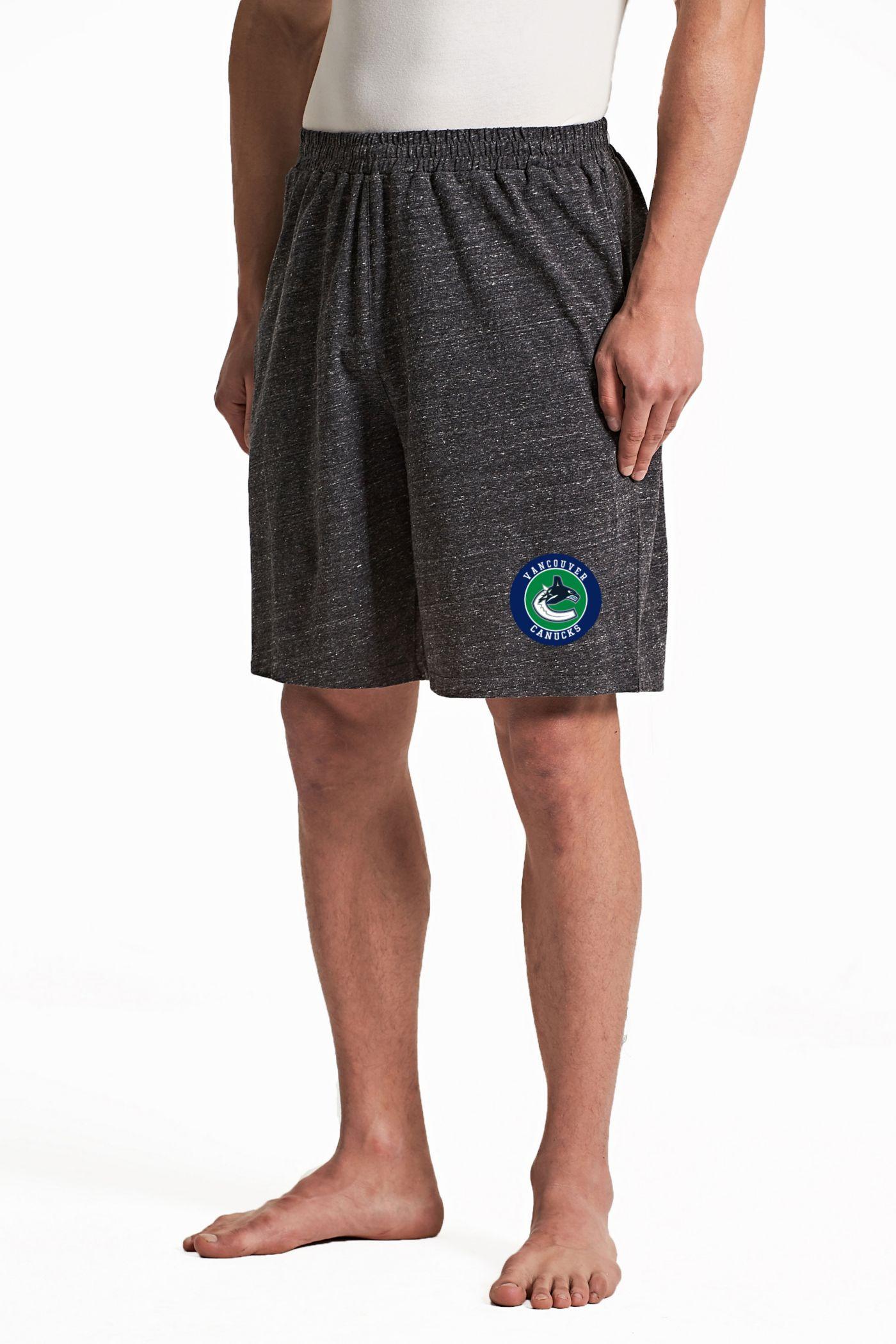 Concepts Sport Men's Vancouver Canucks Pitch Grey Shorts