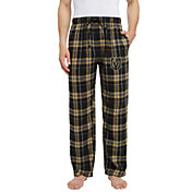 Concepts Sport Men's Vegas Golden Knights Hillstone Black Flannel Pants