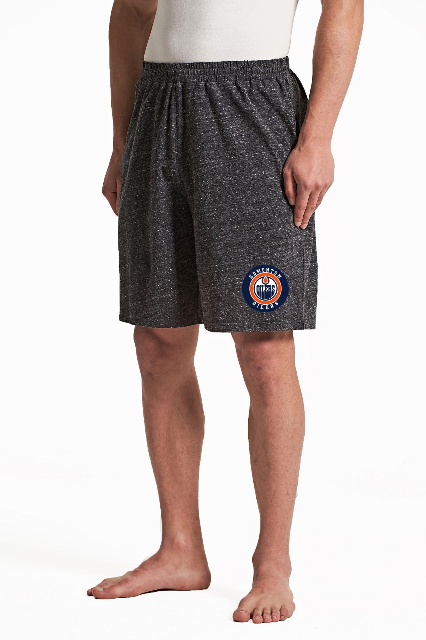 Concepts Sport Men's Edmonton Oilers Pitch Grey Shorts