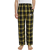 Concepts Sport Men's Pittsburgh Penguins Hillstone Black Flannel Pants
