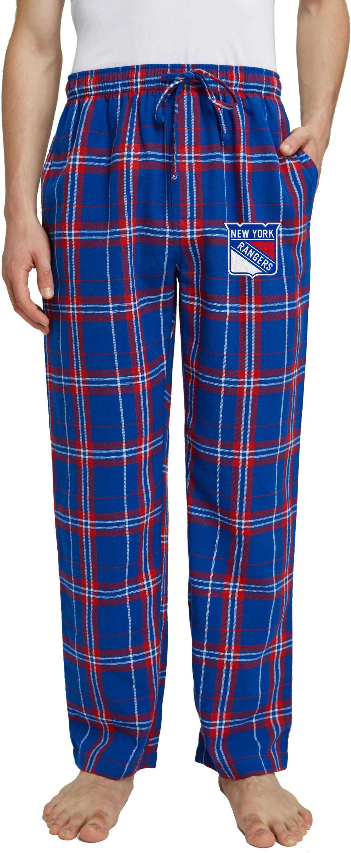 Concepts Sport Men's New York Rangers Hillstone Royal Flannel Pants