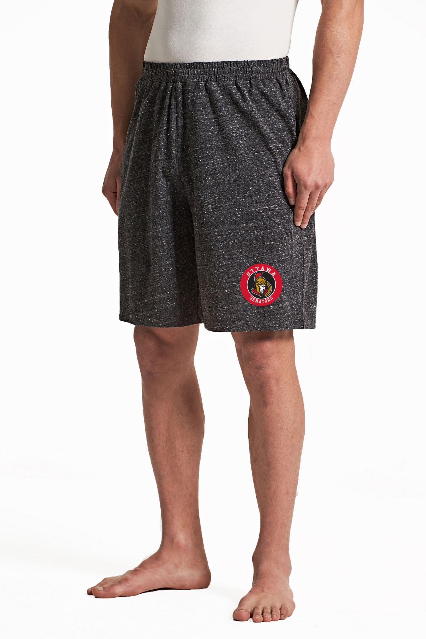 Concepts Sport Men's Ottawa Senators Pitch Grey Shorts