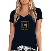 Concepts Sport Women's Los Angeles FC Marathon Black T-Shirt