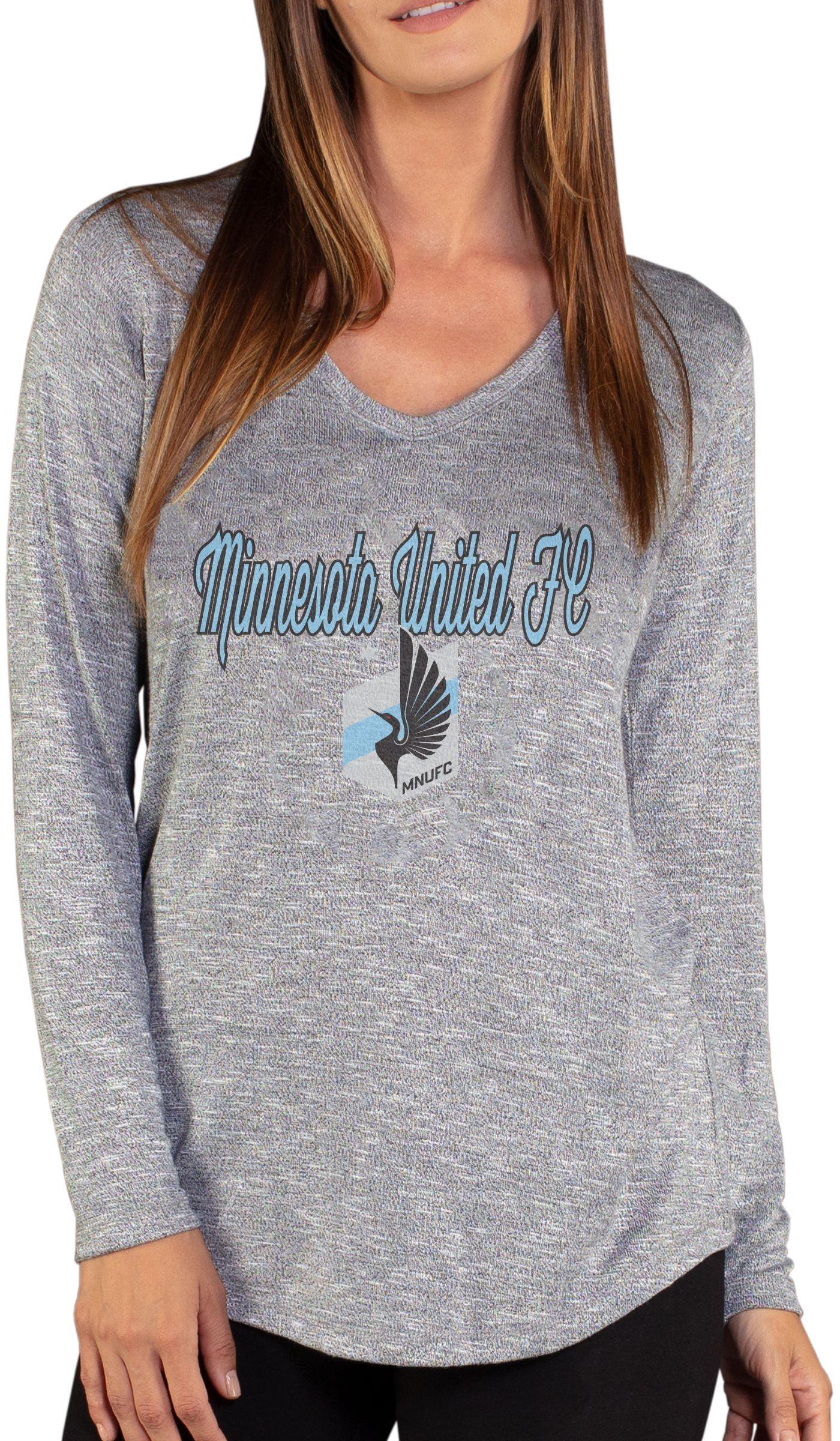 Concepts Sport Women's Minnesota United FC Layover Heather Grey Long Sleeve Shirt