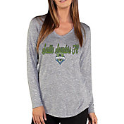 Concepts Sport Women's Seattle Sounders Layover Heather Grey Long Sleeve Shirt