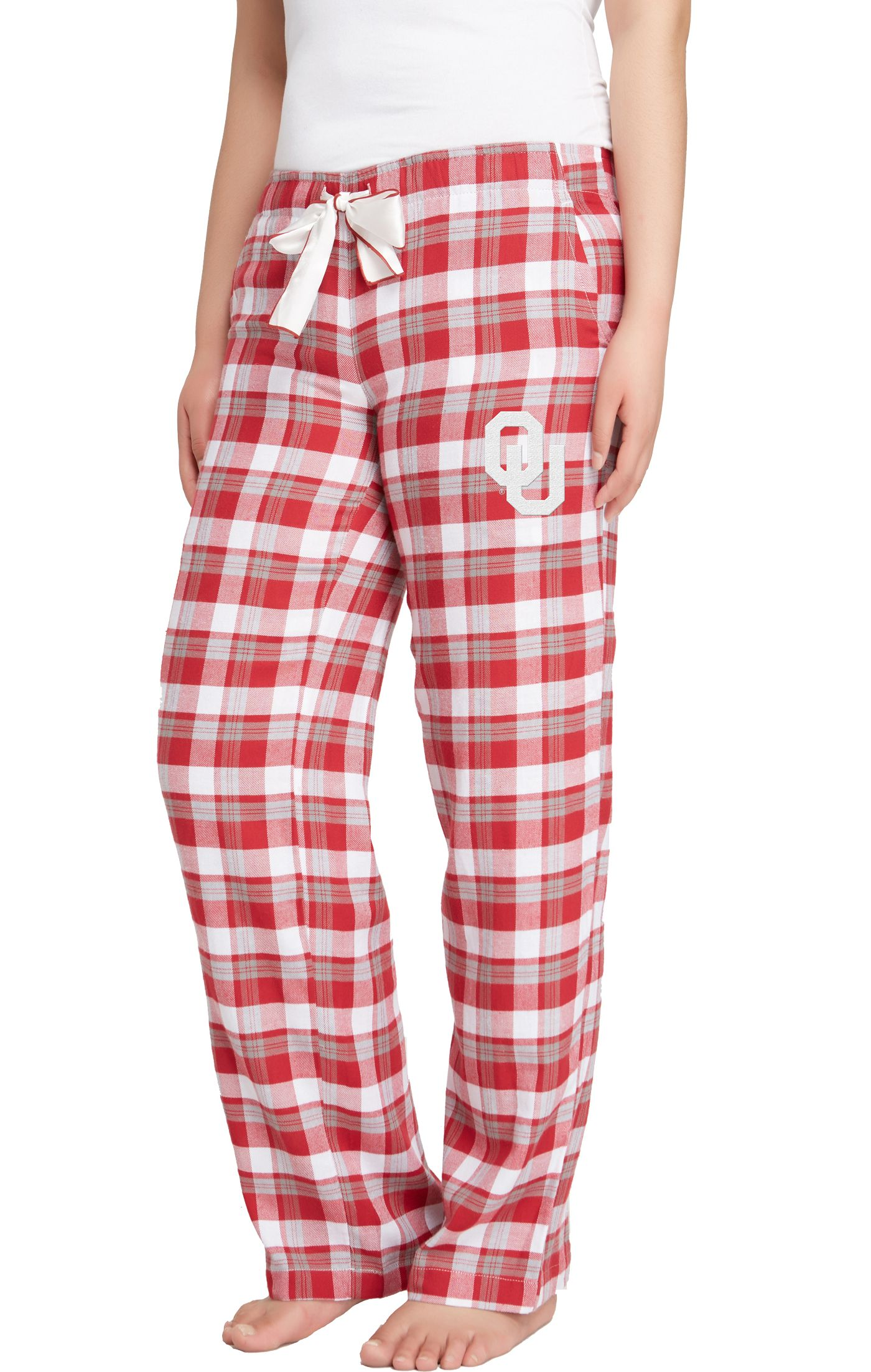 Concepts Sport Women's Oklahoma Sooners Crimson/Grey Piedmont Flannel Sleep Pants