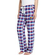 Concepts Sport Women's Kansas Jayhawks Blue/Crimson Piedmont Flannel Sleep Pants