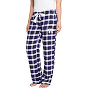 Concepts Sport Women's Kansas State Wildcats Purple/Black Piedmont Flannel Sleep Pants