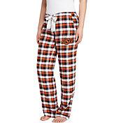 Concepts Sport Women's Oklahoma State Cowboys Black/Orange Piedmont Flannel Sleep Pants
