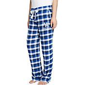 Concepts Sport Women's Kentucky Wildcats Blue/Black Piedmont Flannel Sleep Pants
