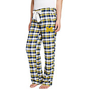 Concepts Sport Women's Michigan Wolverines Blue/Maize Piedmont Flannel Sleep Pants