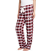 Concepts Sport Women's Mississippi State Bulldogs Maroon/Black Piedmont Flannel Sleep Pants